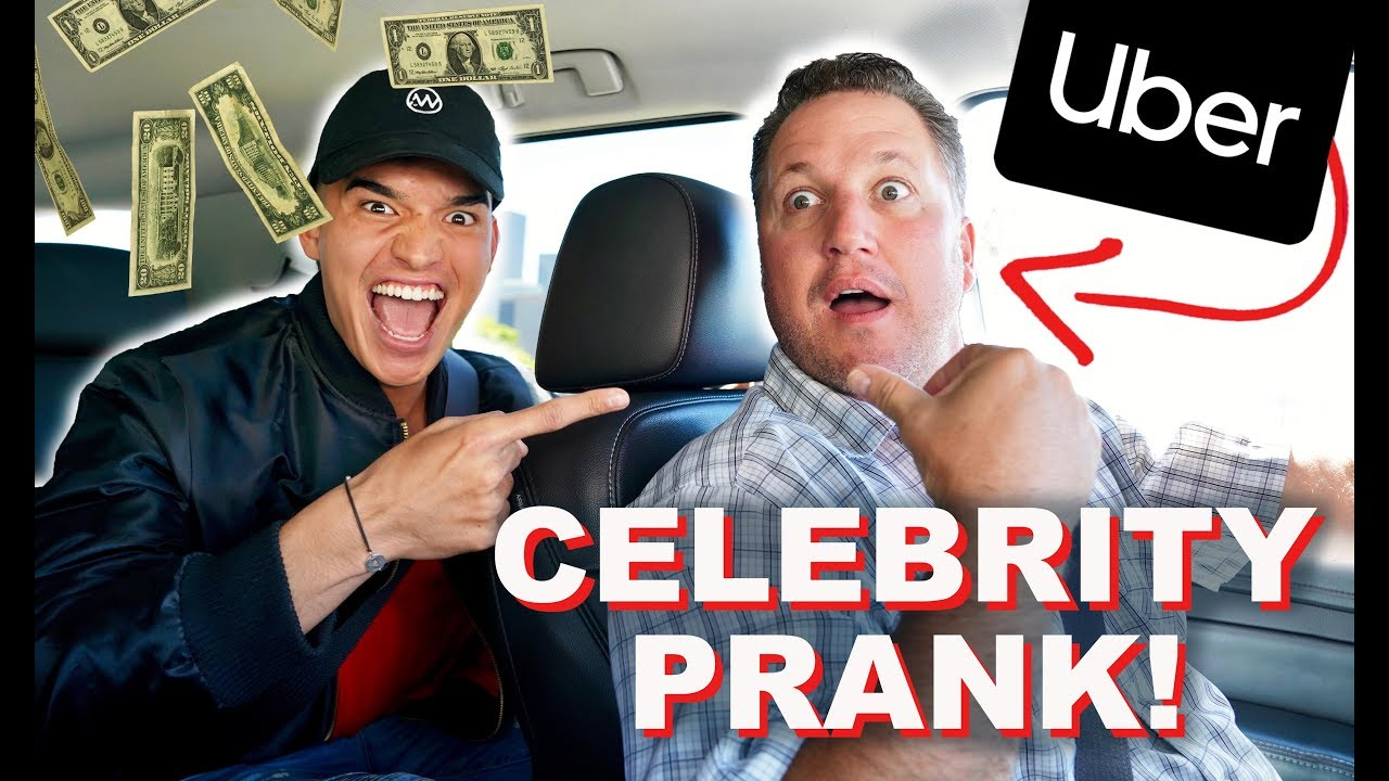 CELEBRITY PRANK ON UBER DRIVER! *ACTION-PACKED* 1