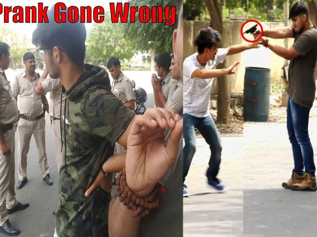Gun Prank GONE WRONG (Arrested??) | Pranks in India | Utsav Martolia