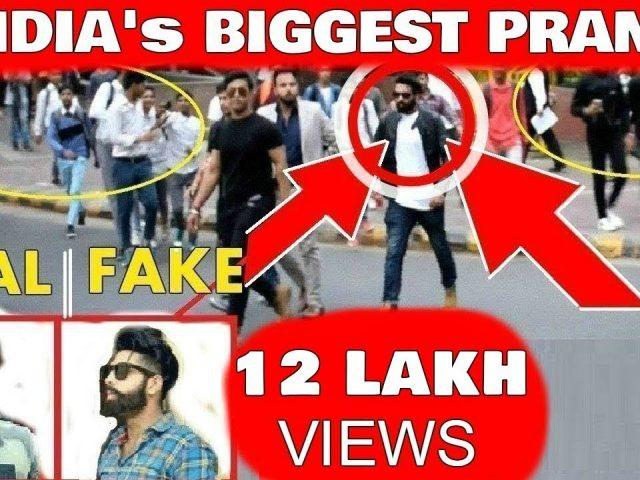 Fake Celebrity Prank | PARMISH VERMA | Crowd Gone crazy