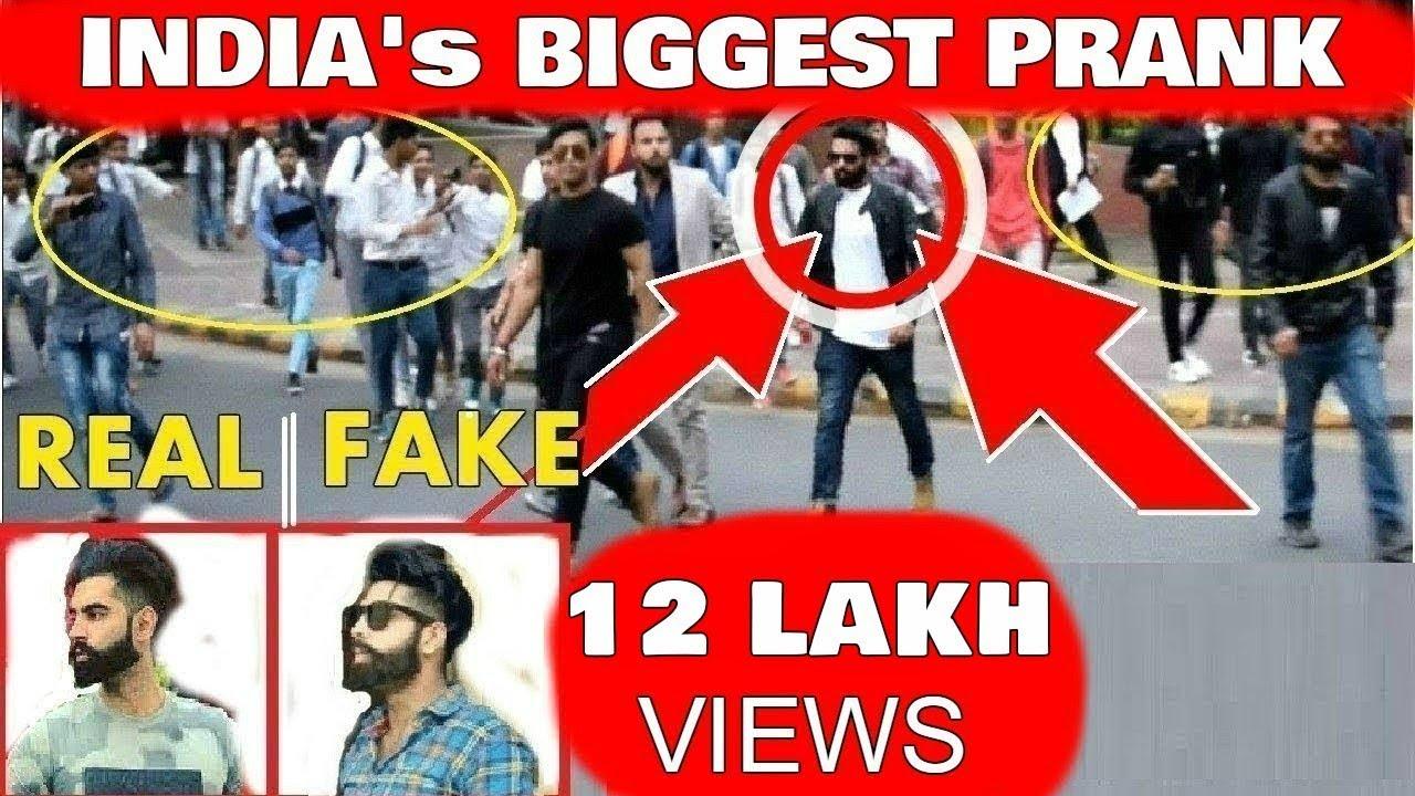 Fake Celebrity Prank | PARMISH VERMA | Crowd Gone crazy 1