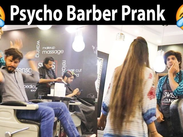 Psycho Barber Prank in Pakistan Haha very funny
