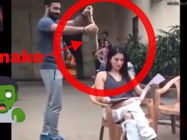 Celebrity pranks – Sunny Leone