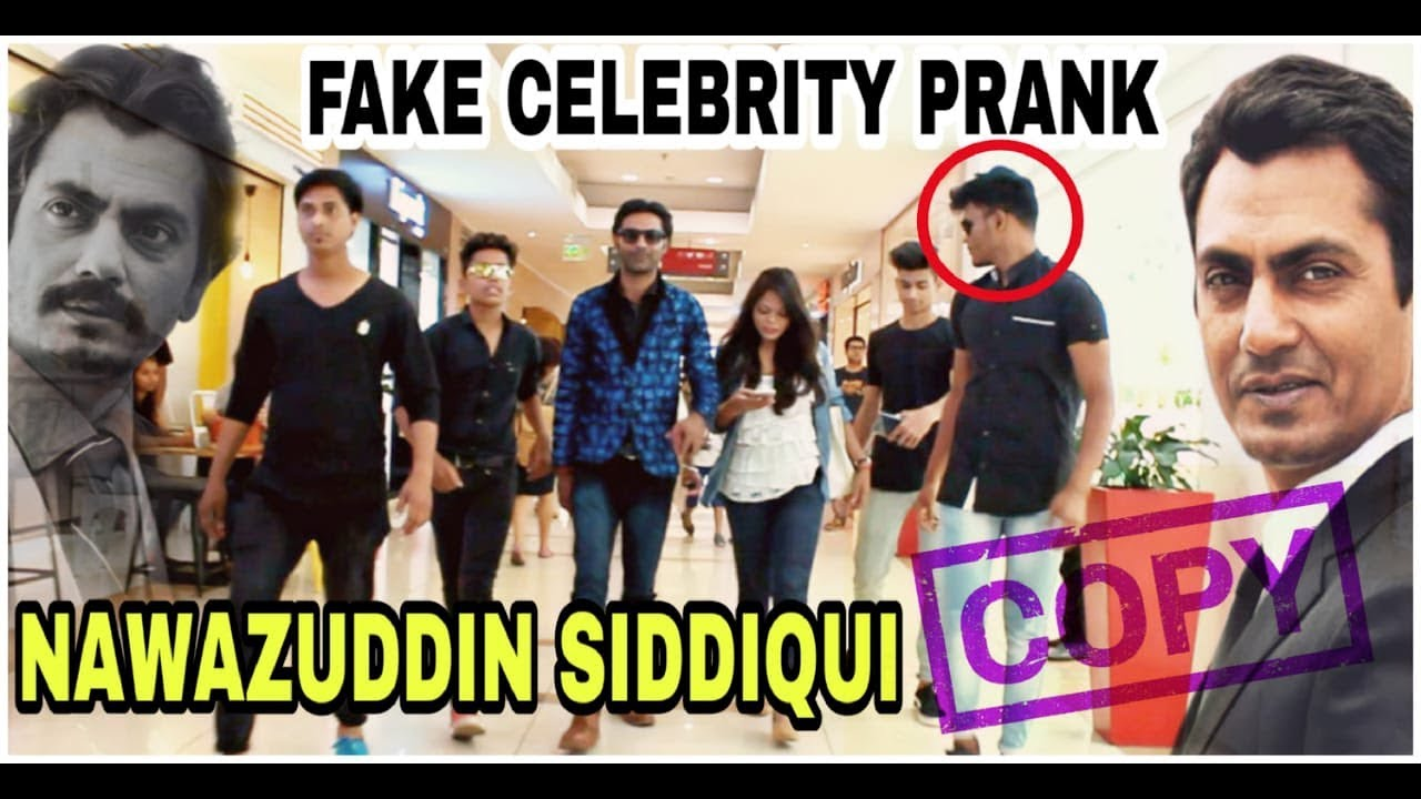 Fake Celebrity Prank | NAWAZUDDIN SIDDIQUI | Fans Awesome Reactions 1