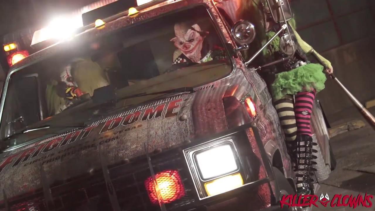 Killer Clown X Scare Prank - Las Vegas Clowns Sightings 1