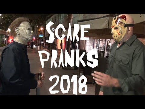 Scare Pranks by Michael Myers 2018, Part 4 Jason Voorhees , Chucky and Ghostface (Scream) 1
