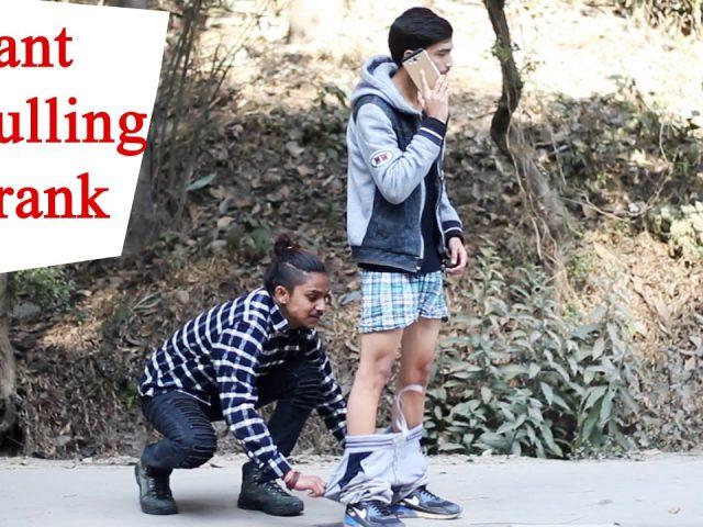"""TROUSER PULLING"" prank in public   Nepali funny prank video 2017/2073 : Roshan Dahal , Diwash"