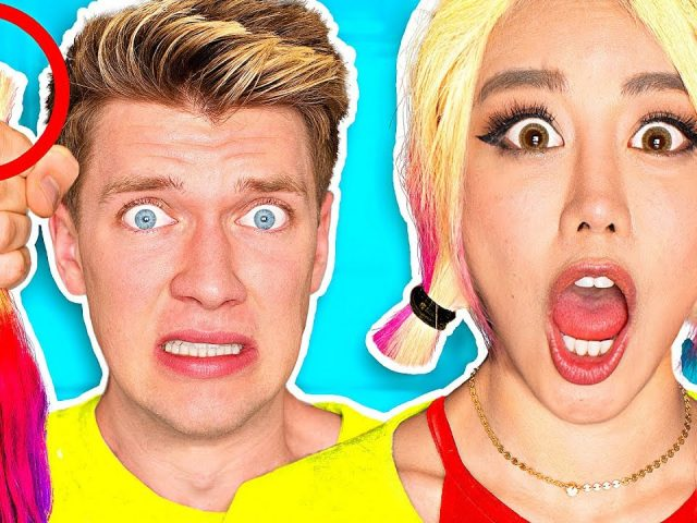 10 FUNNY PRANKS + PRANK WARS!!!!! **CUT HER HAIR** Learn How To Make Easy DIY Pranks w Food & Candy