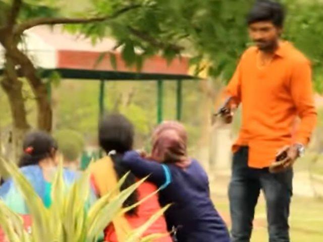 Gun prank with girls funny video Adarsh Thakur Mohit rana Sahil laughwithus thepublicfame