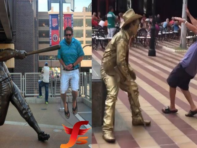 5 Best Funny Statue Scares Pranks Compilation – New Hilarious Living Statue Scare Pranks Ever