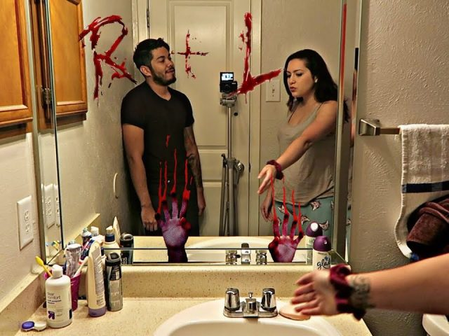 BLOODY MARY PRANK ON GIRLFRIEND!!! (GONE WRONG)
