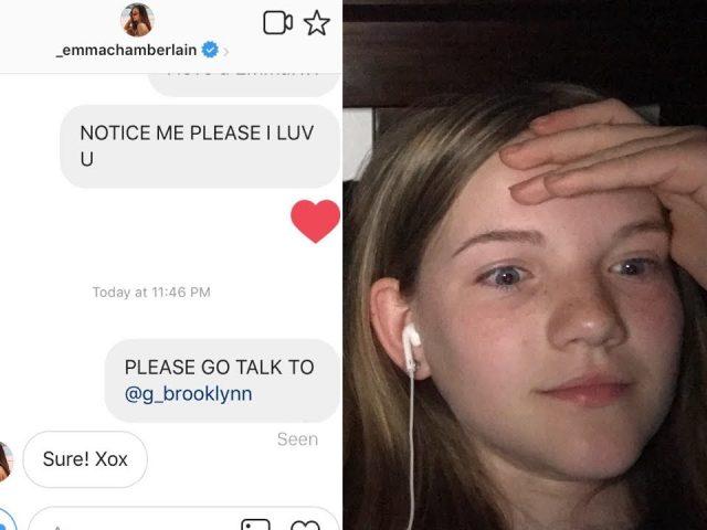 EMMA CHAMBERLAIN DM PRANK ON BFF GONE WRONG