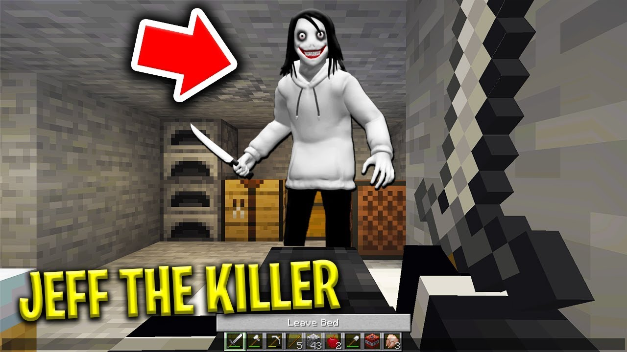 JEFF THE KILLER BREAKS INTO MY BASE IN MINECRAFT! (Scary Minecraft Video) 1