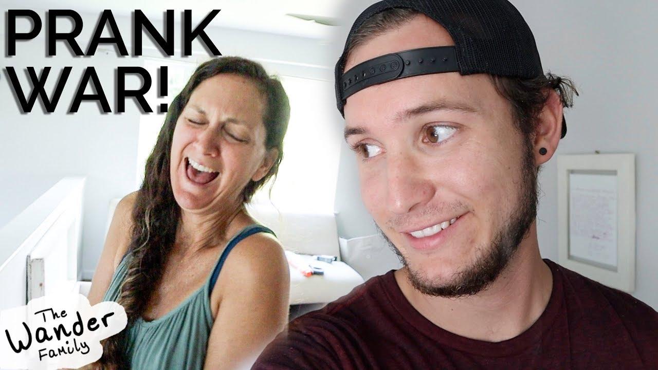 Hidden Camera PRANK WAR! Funny scare pranks!   The Wander Family 1