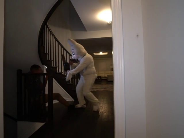 KILLER BUNNY SCARE PRANK GONE WRONG!! *WENT WAY TOO FAR*