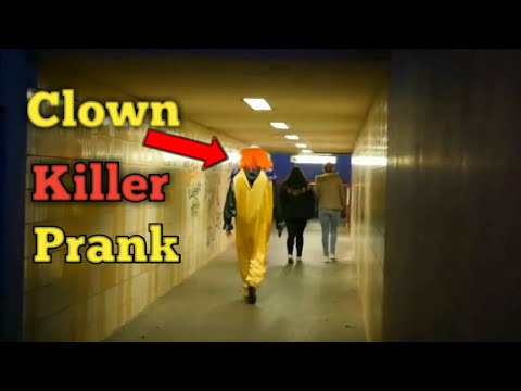 Funny Clown Killer Prank Gone Serious