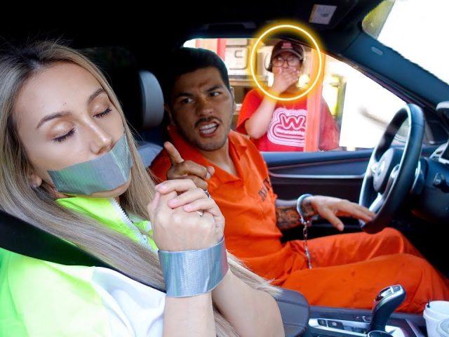 Prisoner Drive Thru Prank