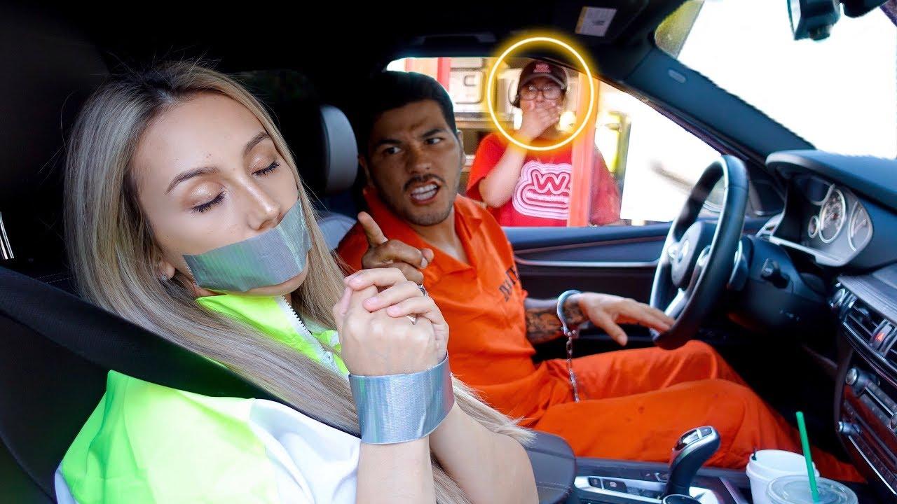 Prisoner Drive Thru Prank 1