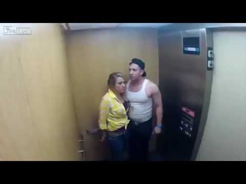 Scary elevator prank goes wrong