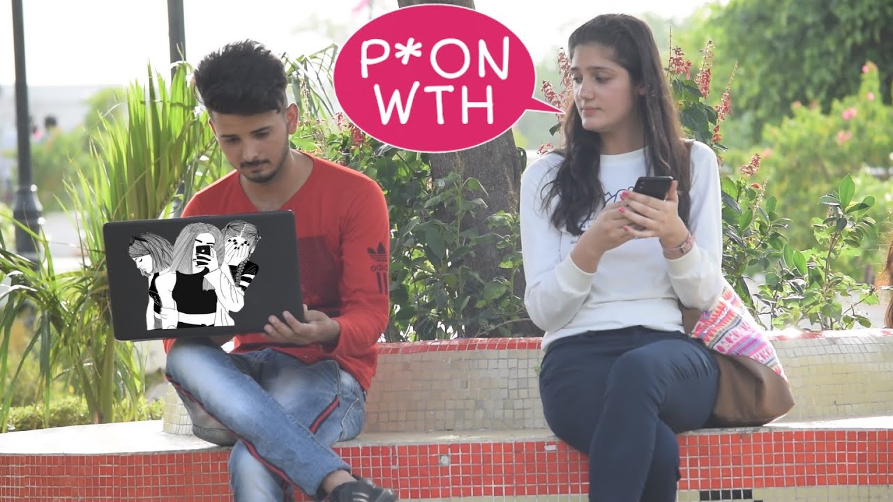Watching Funny Video  in Public Prank | Gone Worng | Part#1 |Prank in Indian 2019 1