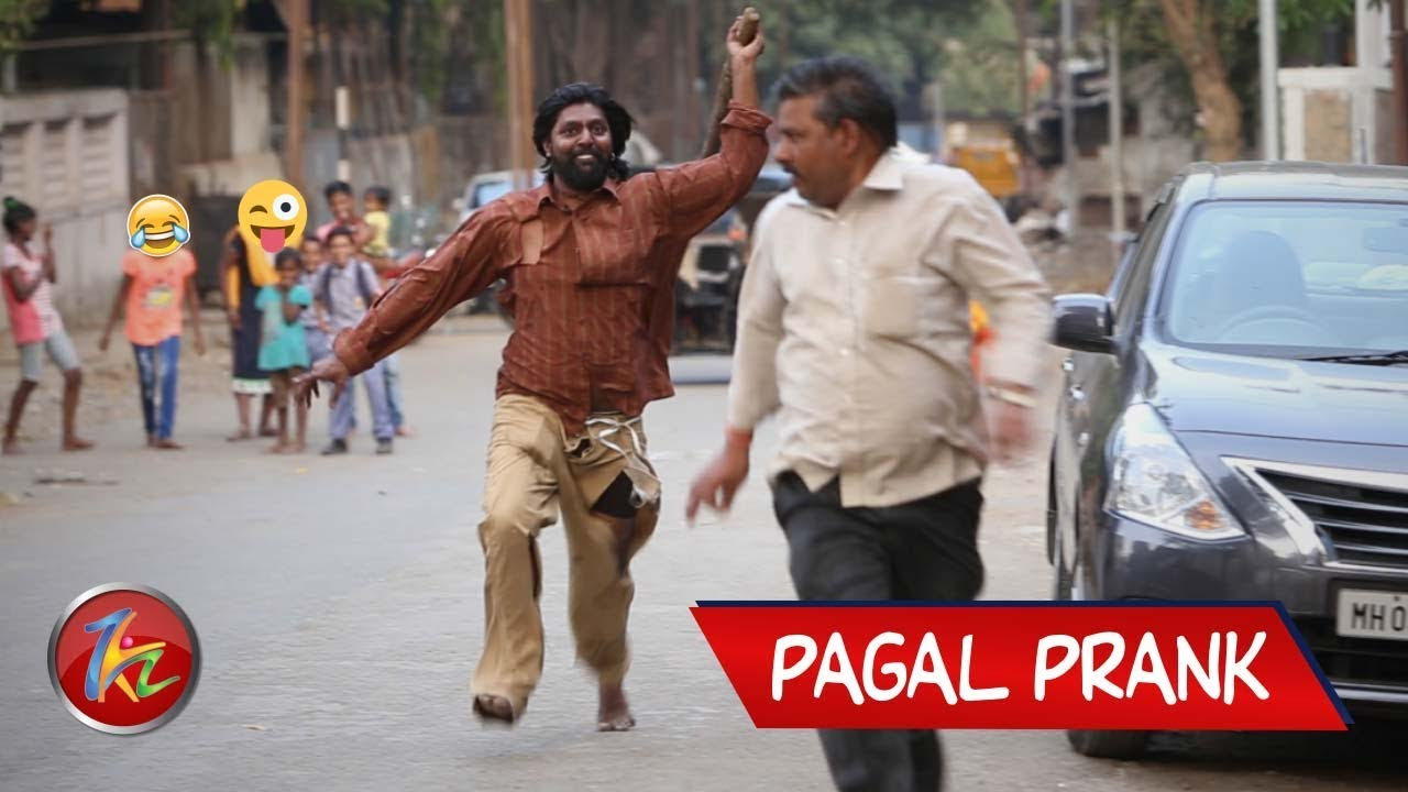Funny Pagal Prank | Psycho Guy Prank | Best Prank in India 2019 | Mad man Prank | Zukazo 1