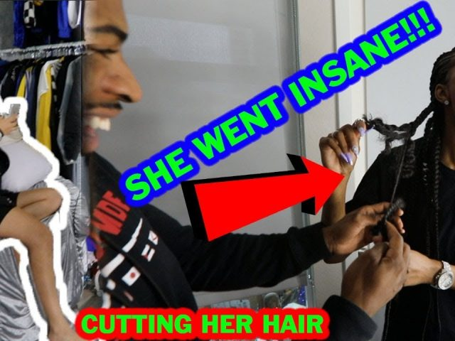 GIVING MY GIRLFRIEND A HAIRCUT  (CUTTING IT ALL OFF) *PRANK GONE WRONG*
