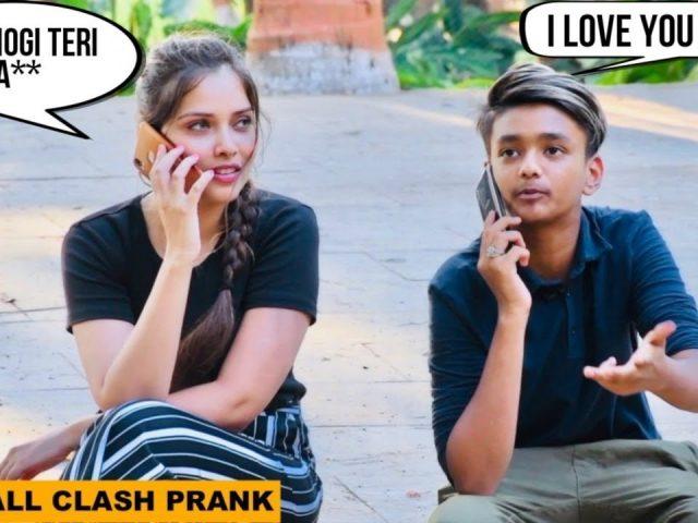 I Love You Baby   Call Clash Prank By SRK   Pranks In India