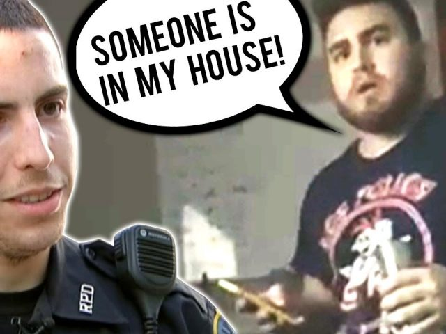 ROOMATE DIDN'T KNOW I WAS HOME PRANK GONE WRONG *COPS CALLED*