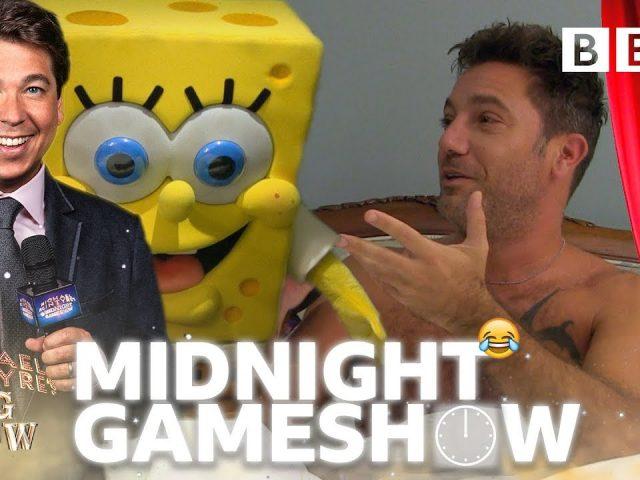 Spongebob surprises Italian chef Gino D'Acampo in Michael McIntyre's wake up prank quiz! 😂- BBC