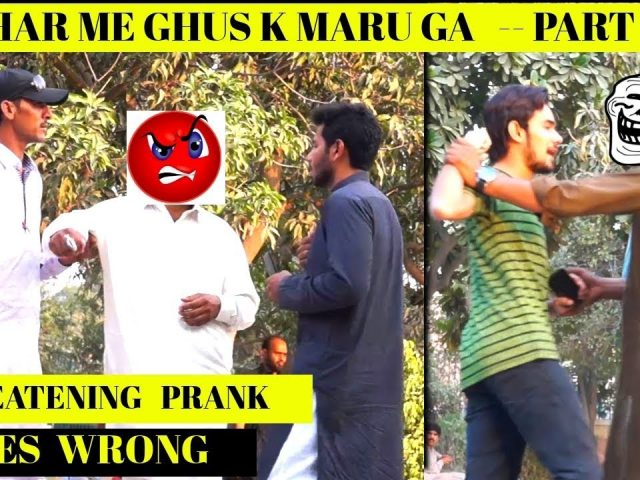 THREATENING PRANK GONE WRONG    By Umair Khan   UKPrankTV