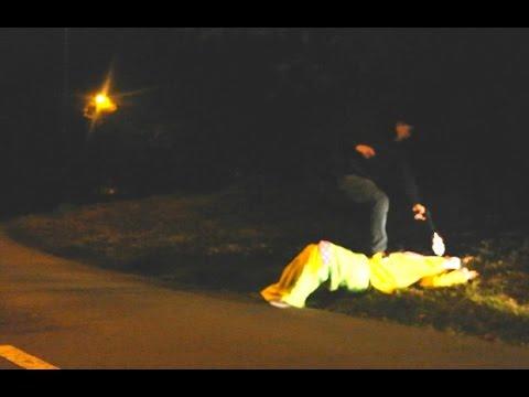 Clown Prank goes wrong in Russia - Clown KILLED BY GUN - Убийца клоун Шутки пойдет не так в России 1