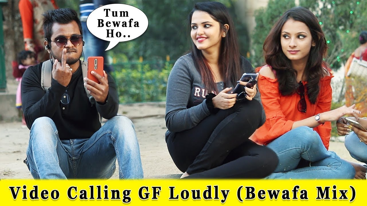 Video Calling With My Girl Friend Bewafai Mix    Prank In India 2019    Funday Pranks 1