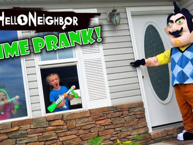 Hello Neighbor in Real Life! Slime Prank GONE WRONG on Real Life Hello Neighbor!!!