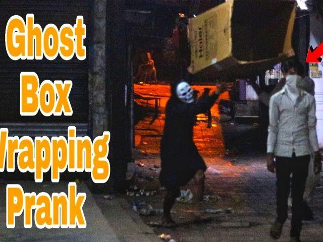 Box wrapping people prank  by ghost  |Ghost Prank gone wrong | Prank in india | Prakash Peswani |