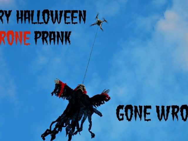Scary Halloween Drone Prank GONE WRONG