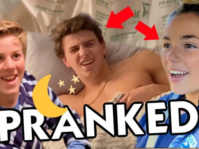 Air Pillow PRANK On Brother and Sister (While They Were Sleeping!!)