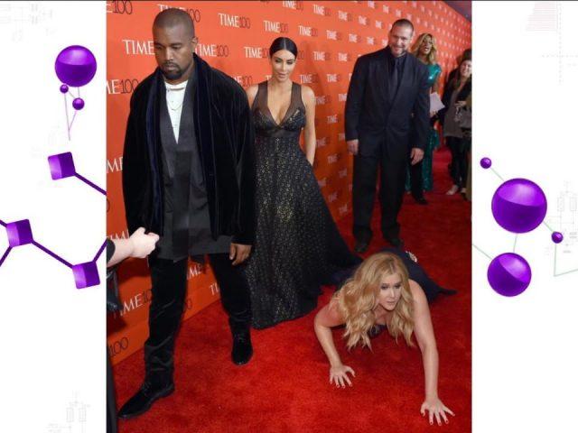Comedian Amy Schumer Pranks Kanye West, Kim Kardashian on Red Carpet