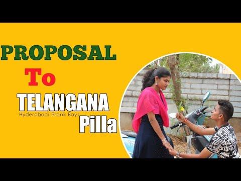 Proposing to Telangana pilla!! Proposa gone Wrong!! Hyderabadi prank boys!! Telugu proposal pranks!!