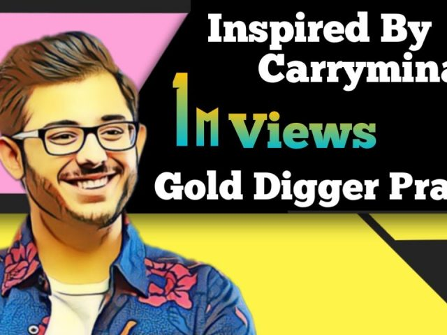 My First Roast Video | Carryminati | Gold Digger Prank | AmPubgLover