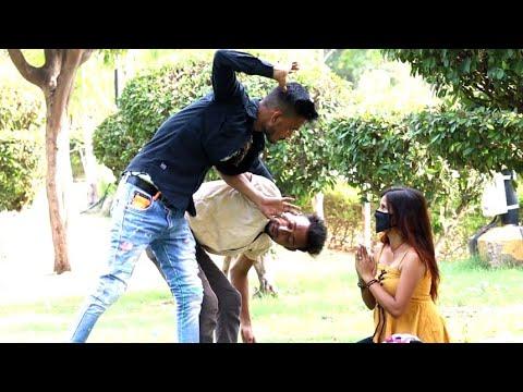 Prank on little brother and he's girlfriend Ak Malik pranks